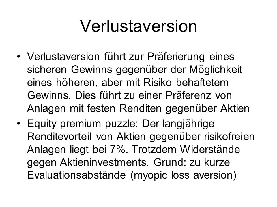 Verlustaversion