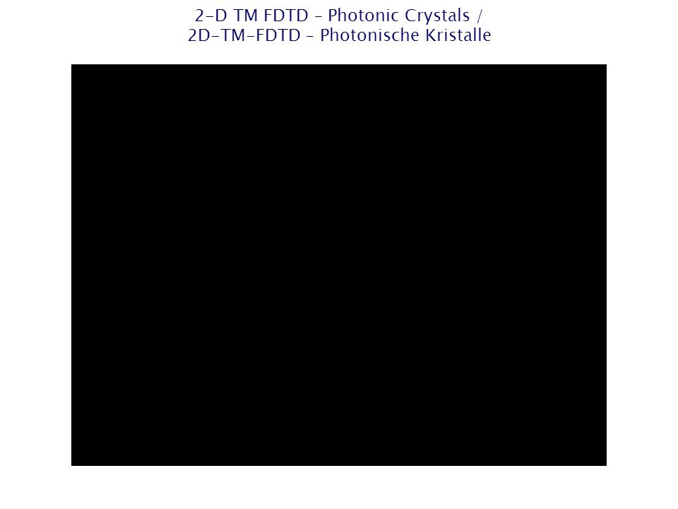 2-D TM FDTD – Photonic Crystals / 2D-TM-FDTD – Photonische Kristalle