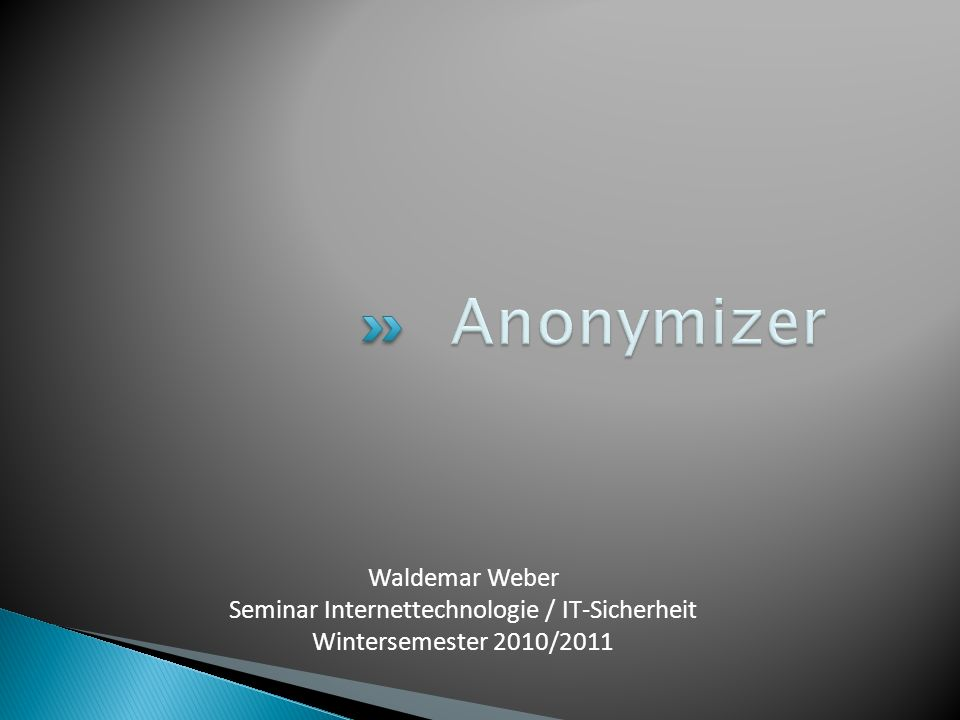 Seminar Internettechnologie / IT-Sicherheit