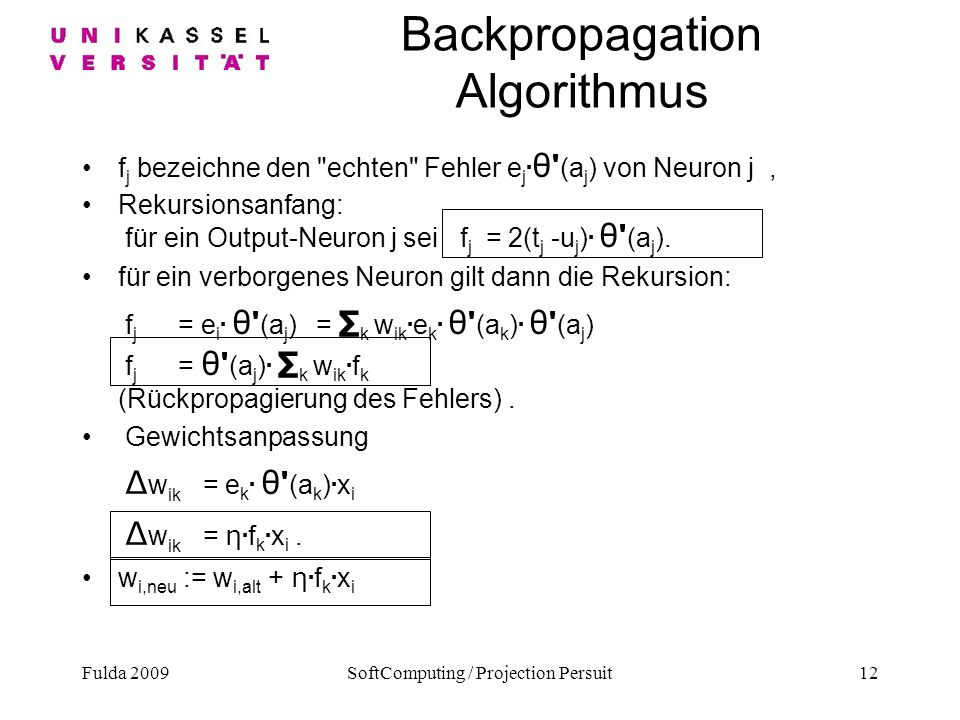 Backpropagation Algorithmus