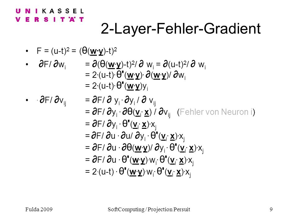 2-Layer-Fehler-Gradient