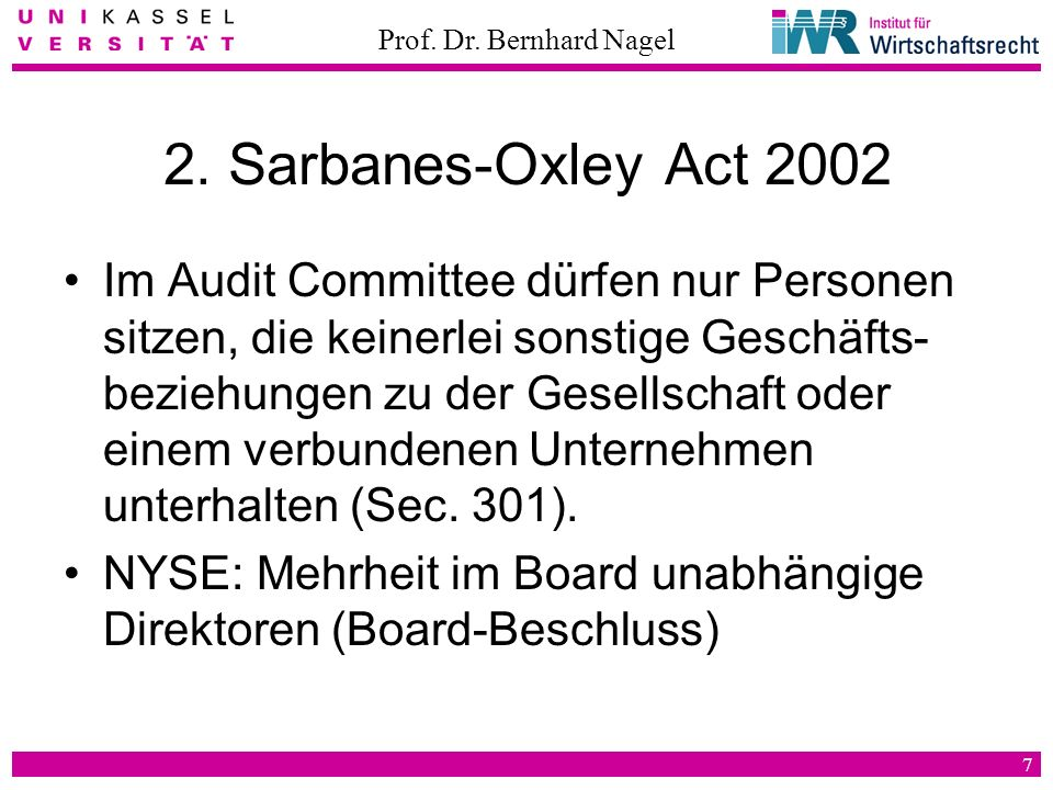 2. Sarbanes-Oxley Act 2002