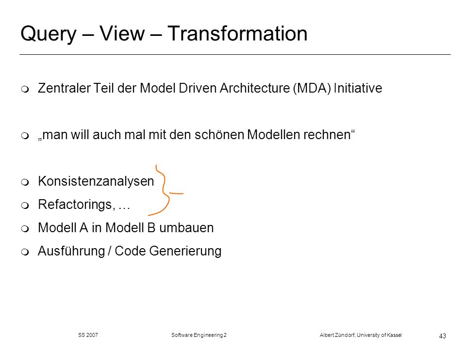 Query – View – Transformation
