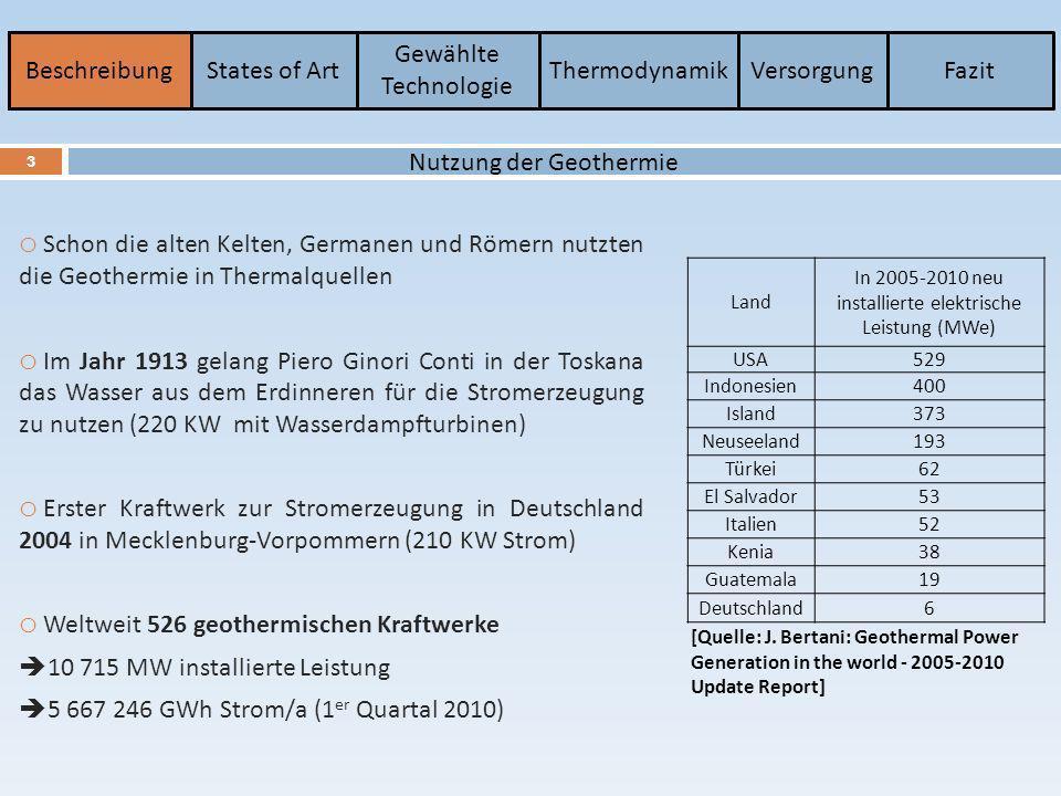 Geothermie Wandlung zwischen Wärme und elektrische Energie - ppt ...
