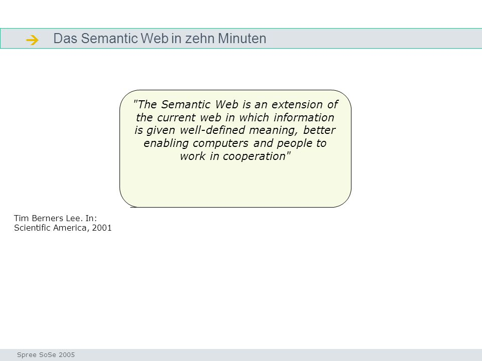  Das Semantic Web in zehn Minuten