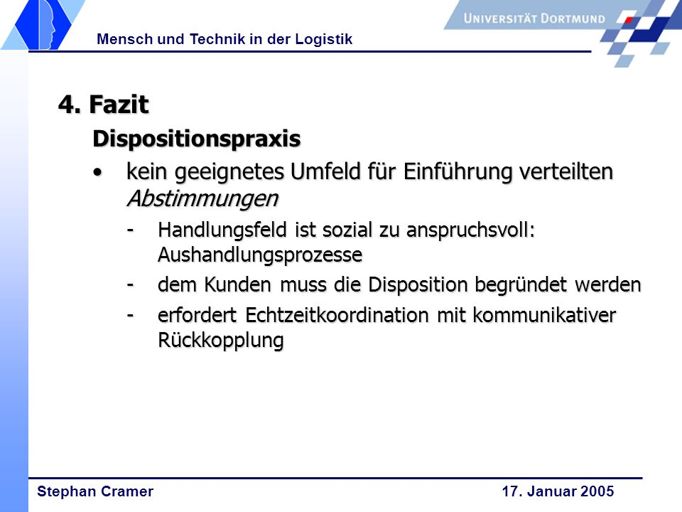 4. Fazit Dispositionspraxis