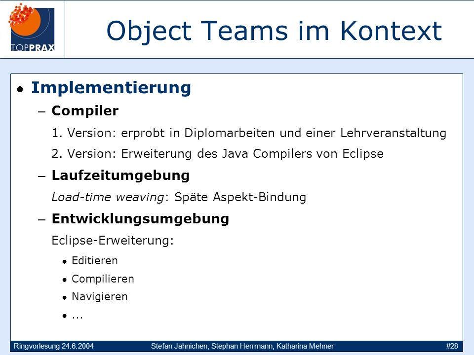 Object Teams im Kontext