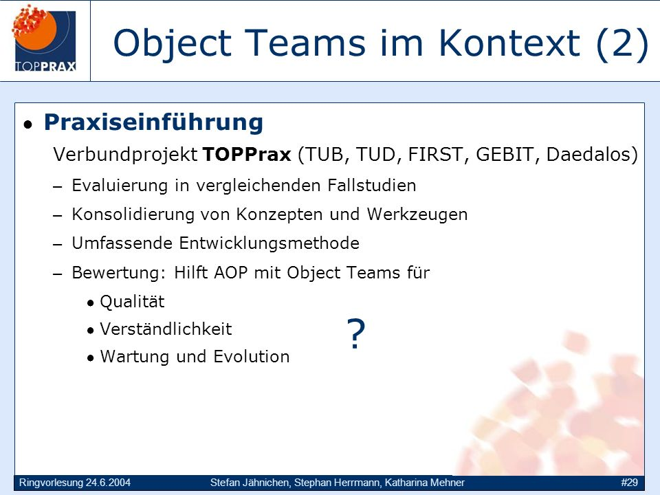 Object Teams im Kontext (2)