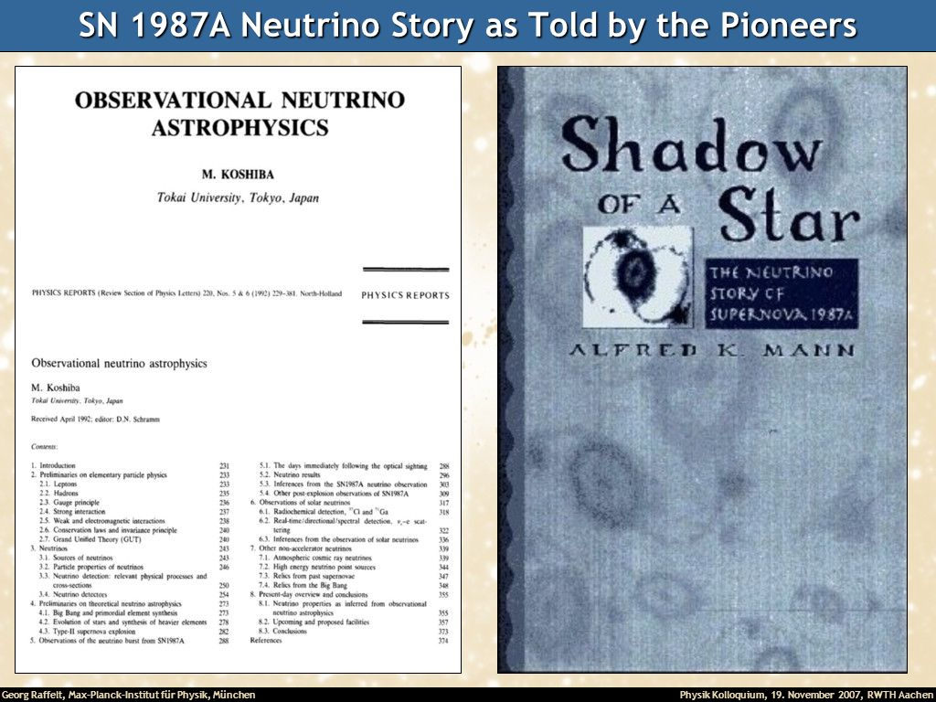 SN 1987A Neutrino Story as Told by the Pioneers