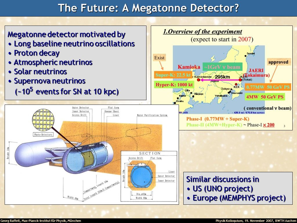 The Future: A Megatonne Detector