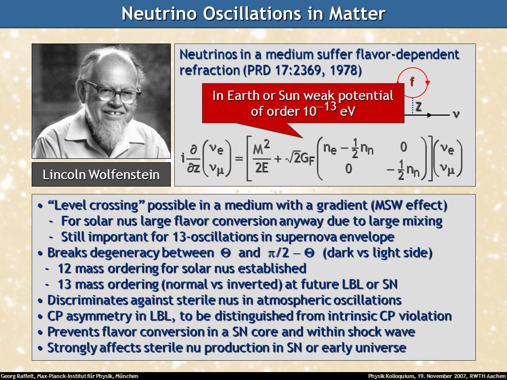 Neutrino Oscillations in Matter