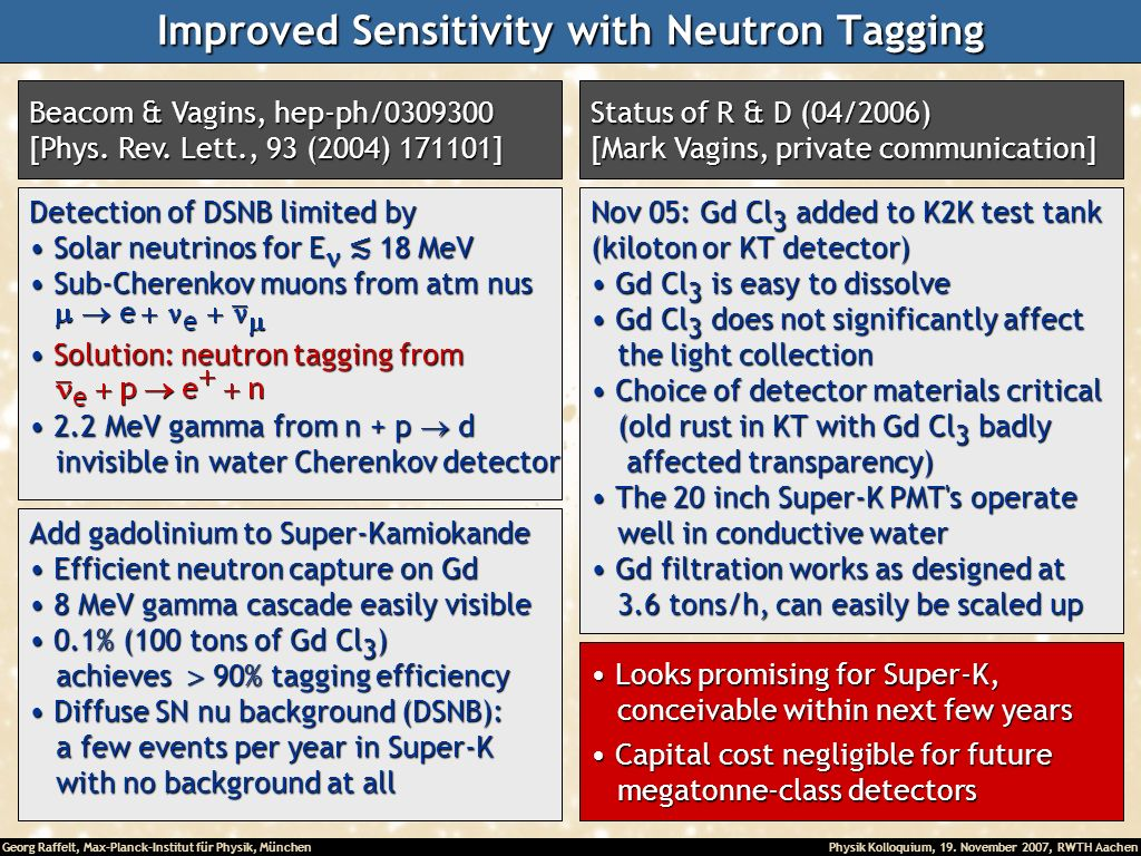Improved Sensitivity with Neutron Tagging