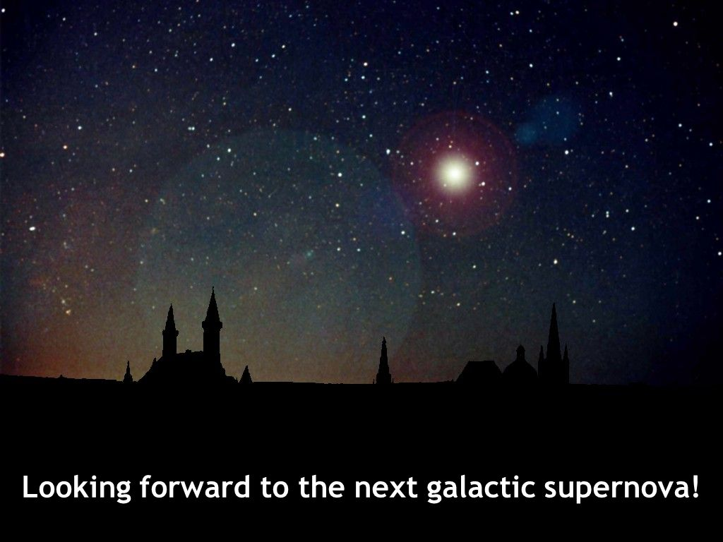 Looking forward to the next galactic supernova!