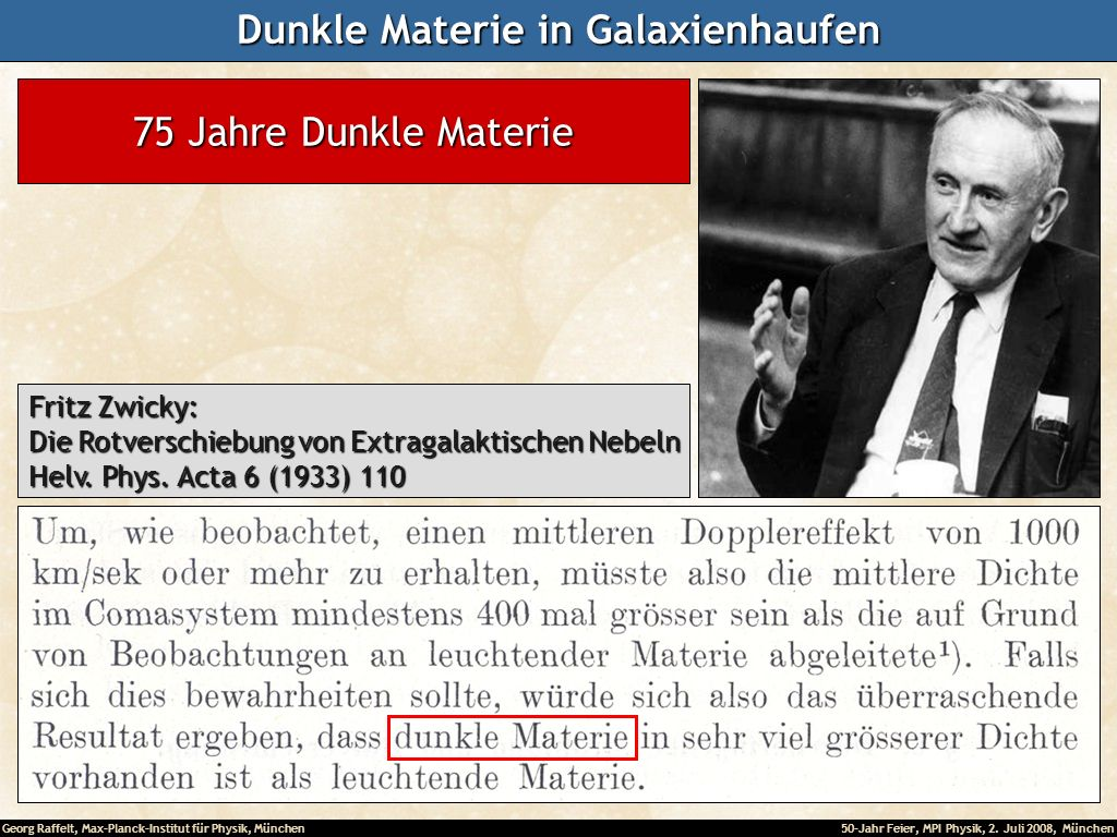 Dunkle Materie in Galaxienhaufen