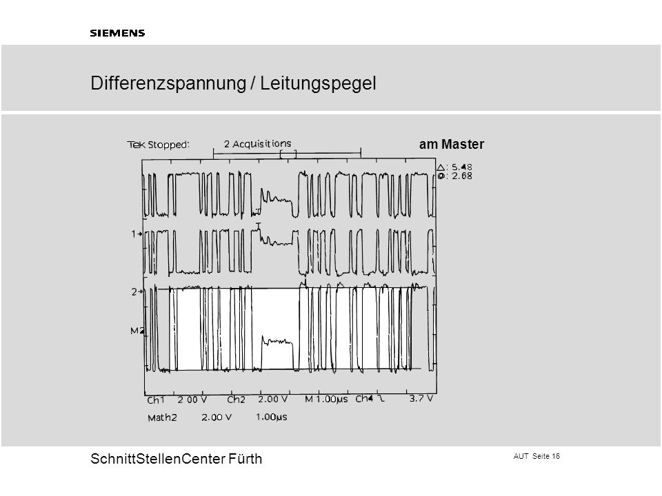 Differenzspannung / Leitungspegel