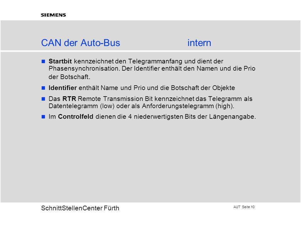 CAN der Auto-Bus intern