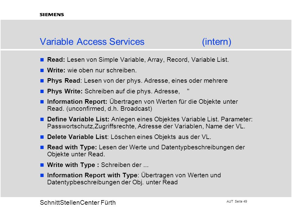 Variable Access Services (intern)