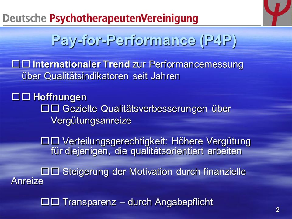 Pay-for-Performance (P4P)