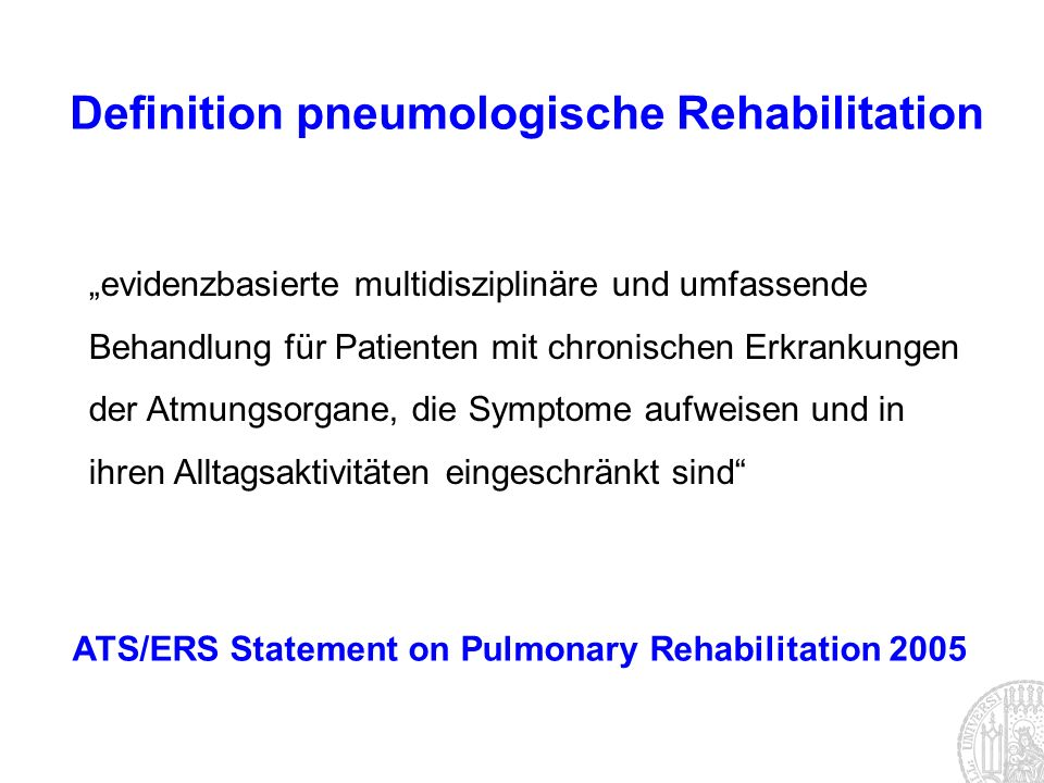 Definition pneumologische Rehabilitation