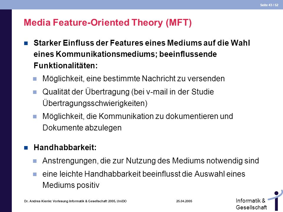 Media Feature-Oriented Theory (MFT)