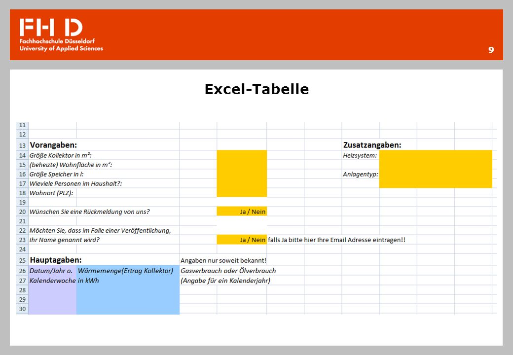 Excel-Tabelle