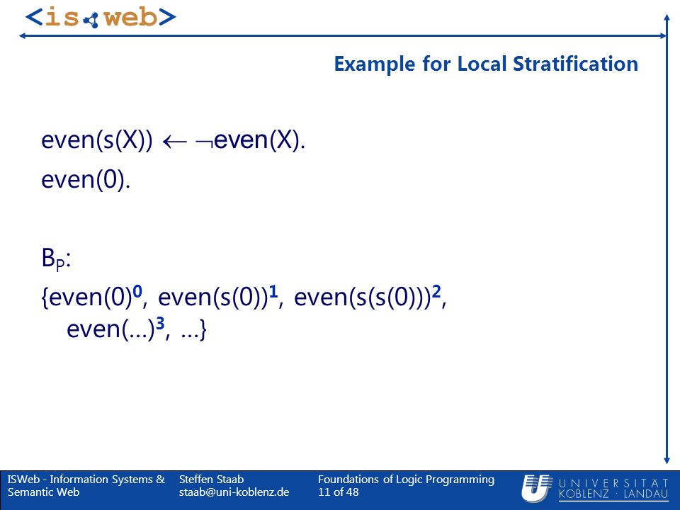 Example for Local Stratification