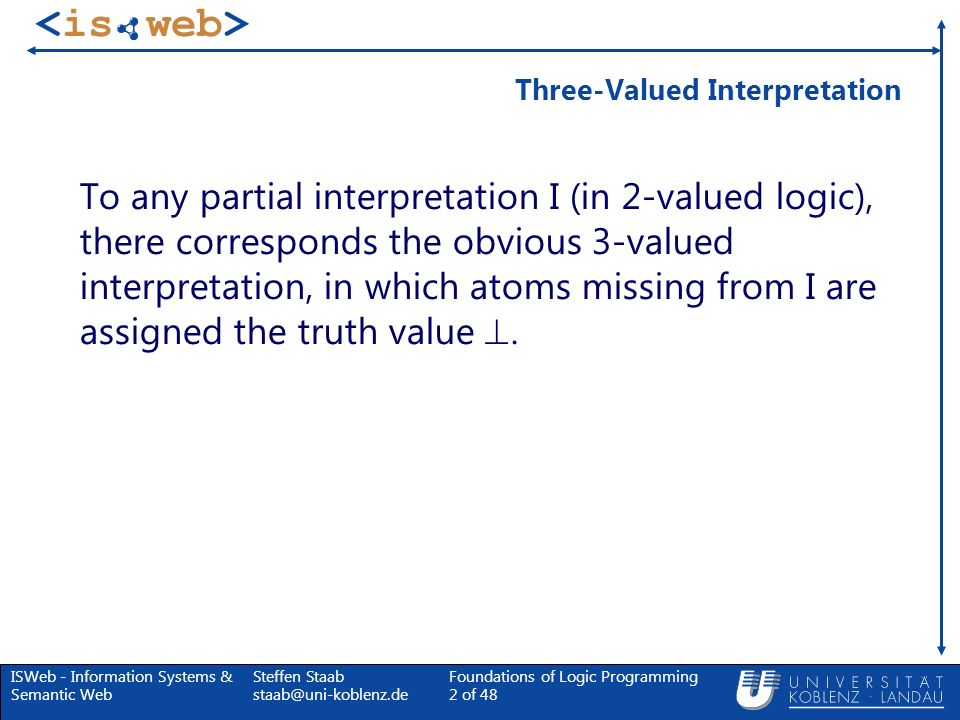 Three-Valued Interpretation