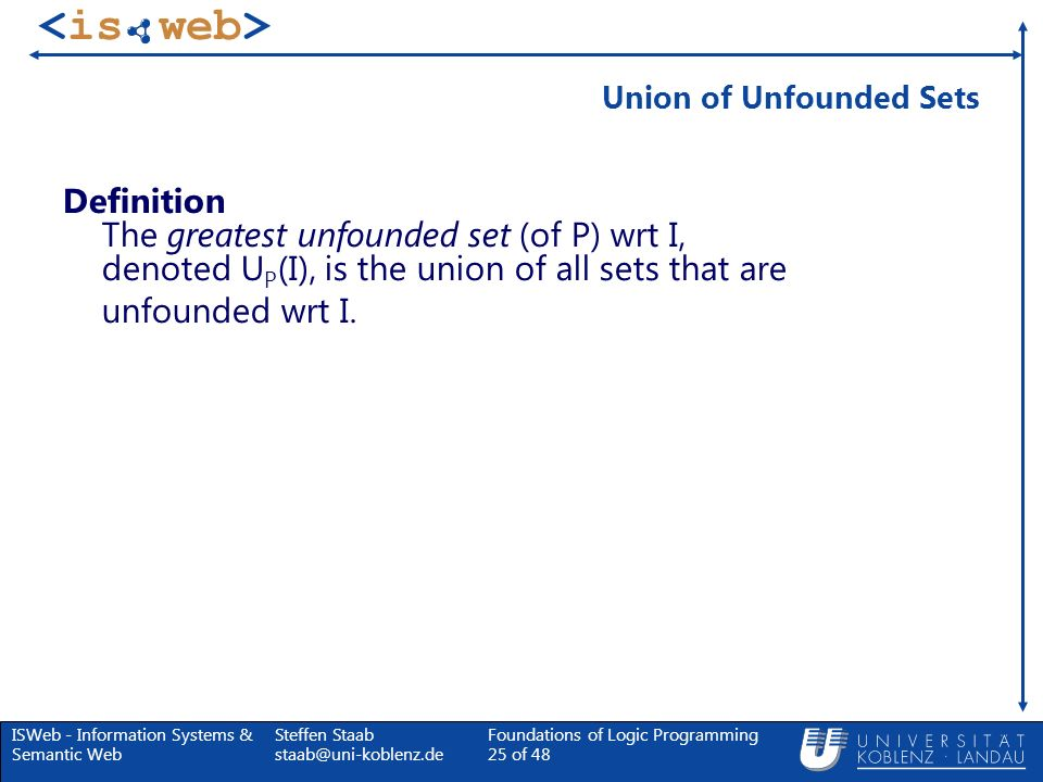 Union of Unfounded Sets