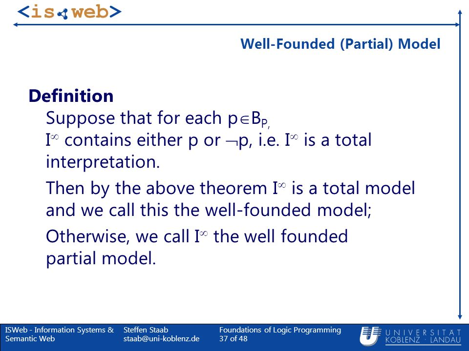 Well-Founded (Partial) Model