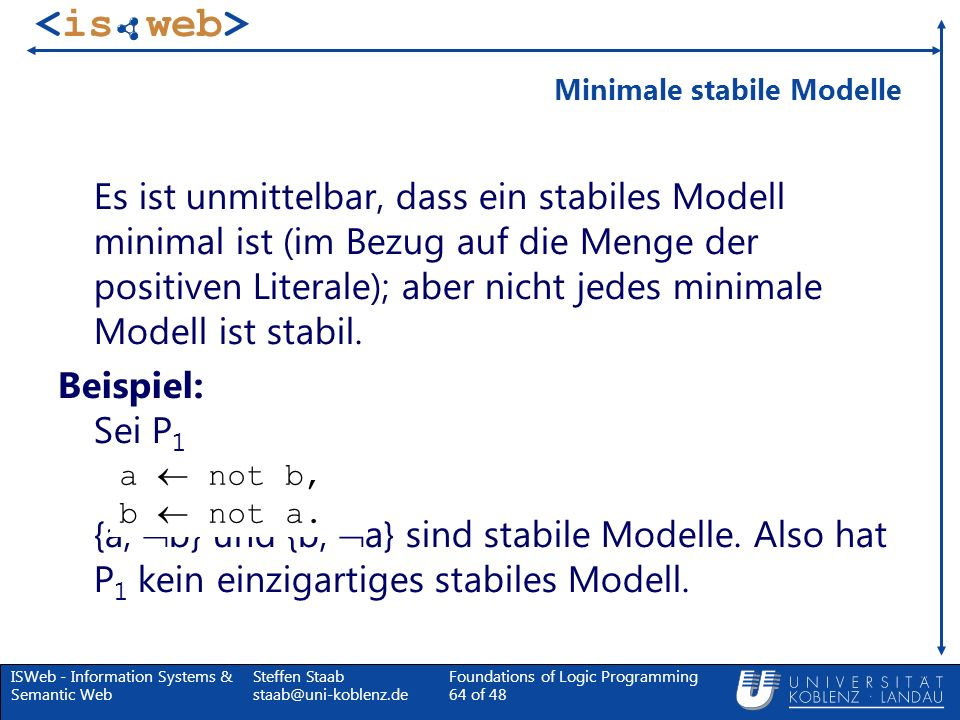 Minimale stabile Modelle