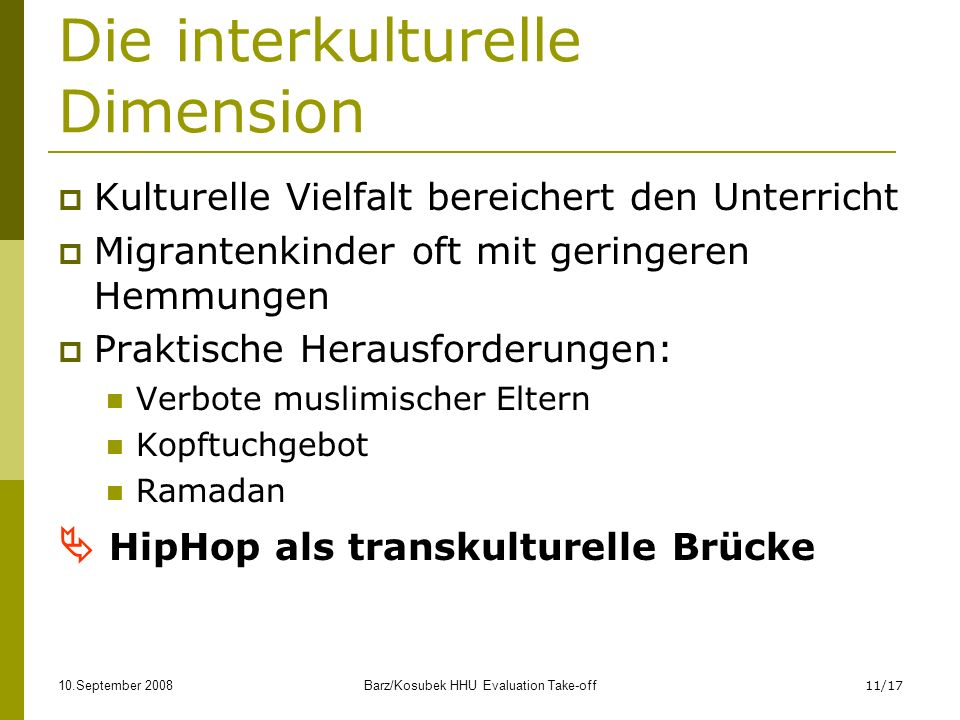 Die interkulturelle Dimension