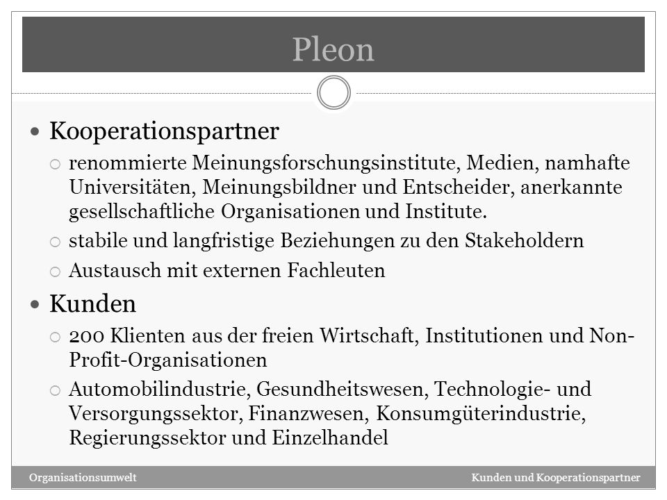 Pleon Kooperationspartner Kunden