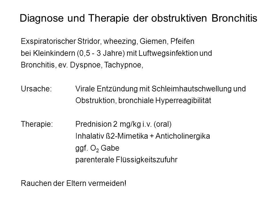 Diagnose und Therapie der obstruktiven Bronchitis