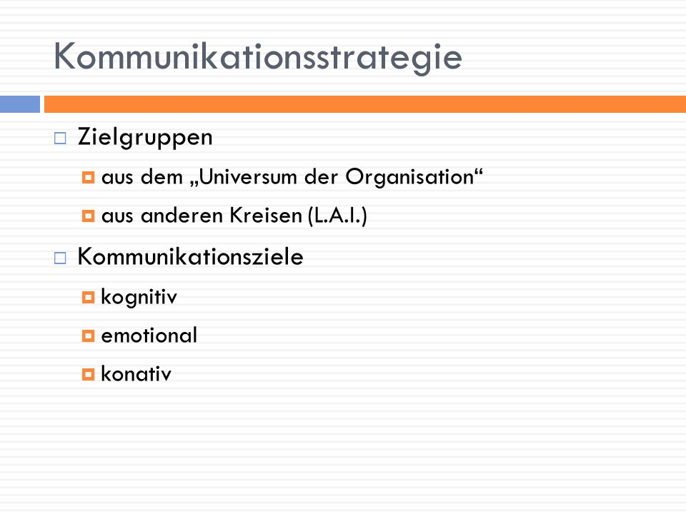 Kommunikationsstrategie