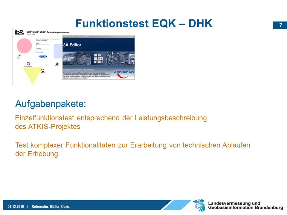 Funktionstest EQK – DHK