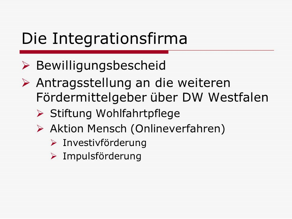 Die Integrationsfirma