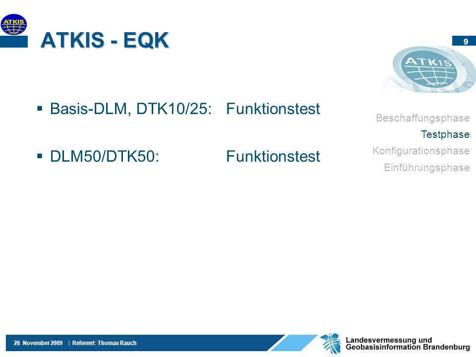 ATKIS - EQK Basis-DLM, DTK10/25: Funktionstest
