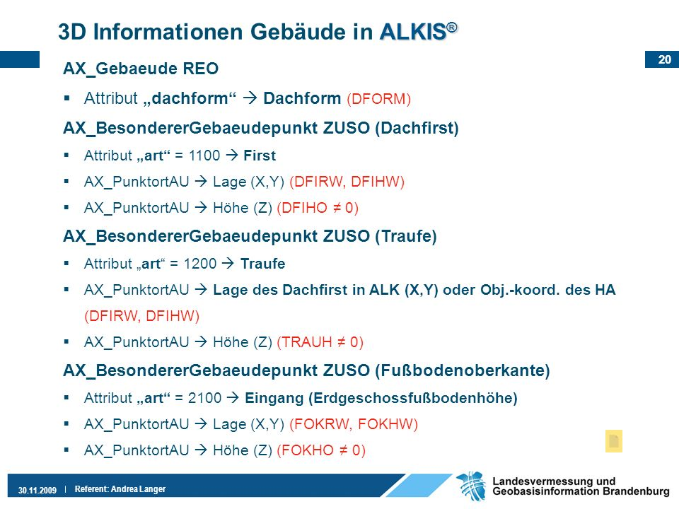 3D Informationen Gebäude in ALKIS®