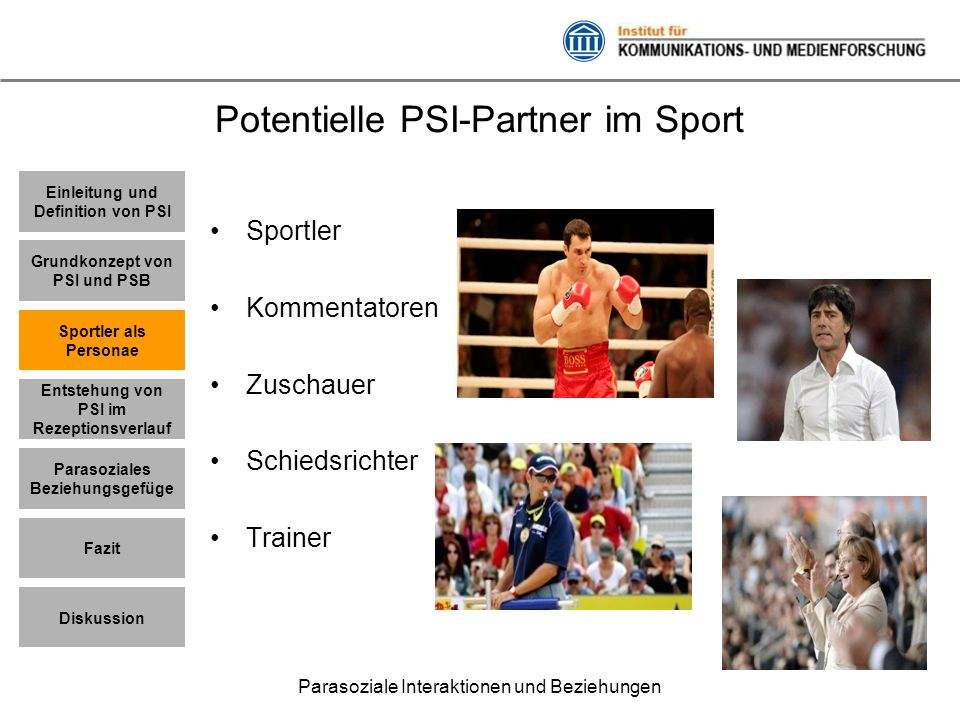 Potentielle PSI-Partner im Sport