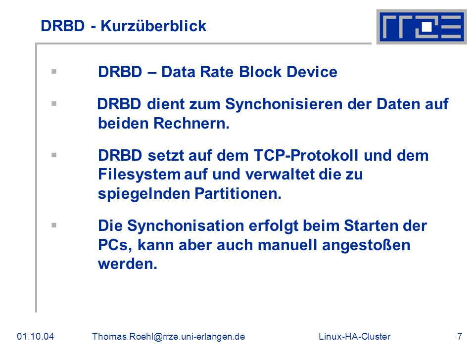 DRBD – Data Rate Block Device