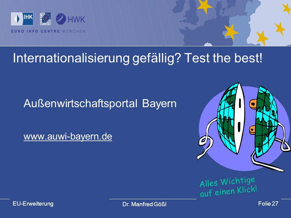 Internationalisierung gefällig Test the best!