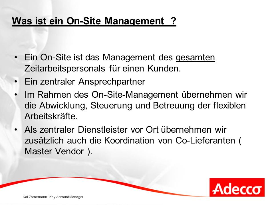 Was ist ein On-Site Management