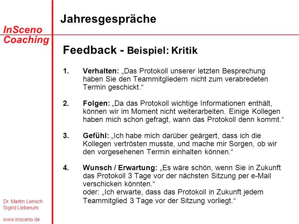 feedback beispiel kritik - Mitarbeitergesprache Beispiele