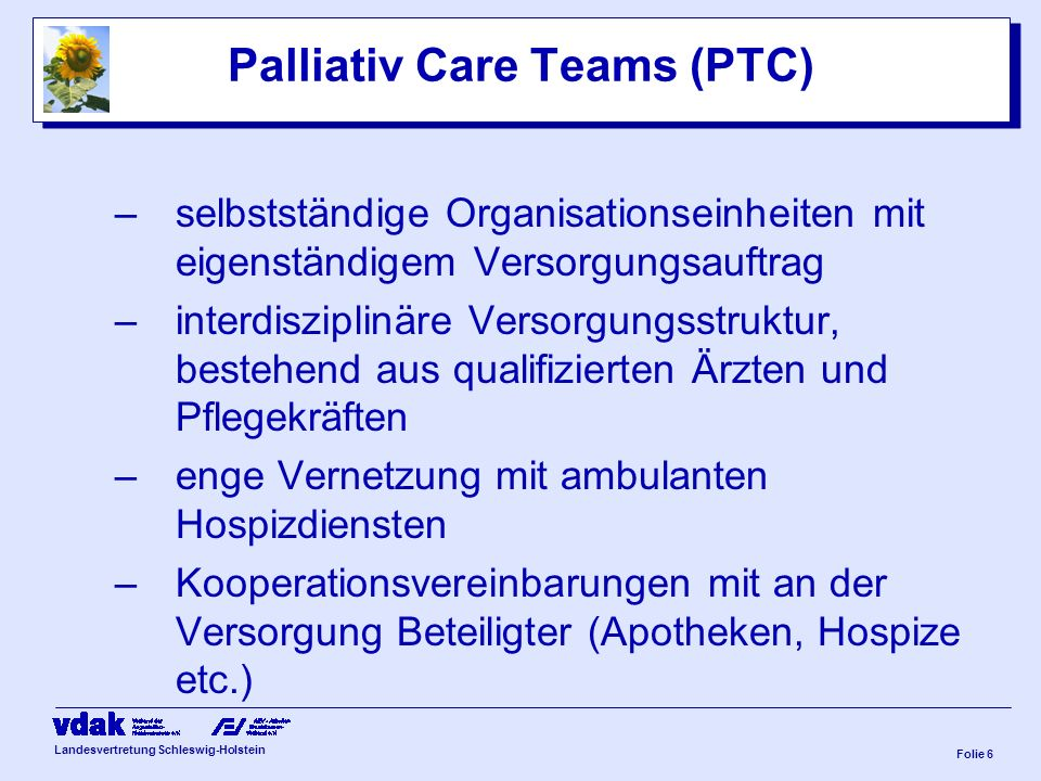 Palliativ Care Teams (PTC)