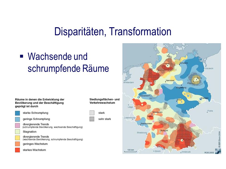 Disparitäten, Transformation