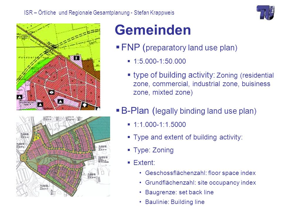 Gemeinden FNP (preparatory land use plan)