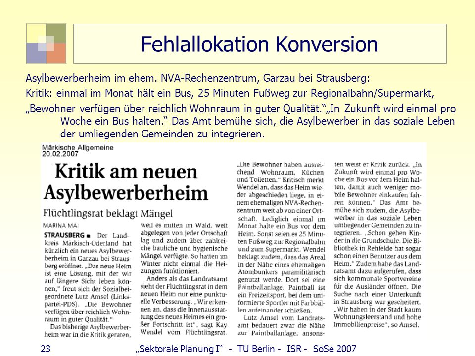 Fehlallokation Konversion