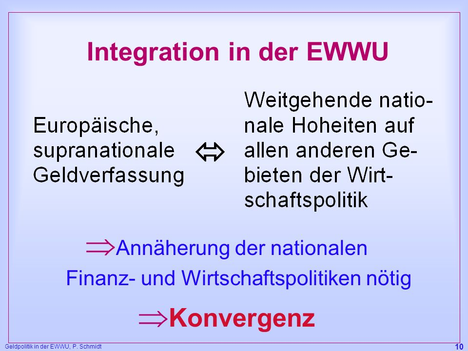 Integration in der EWWU