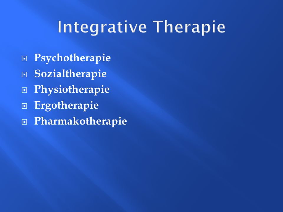 Integrative Therapie Psychotherapie Sozialtherapie Physiotherapie