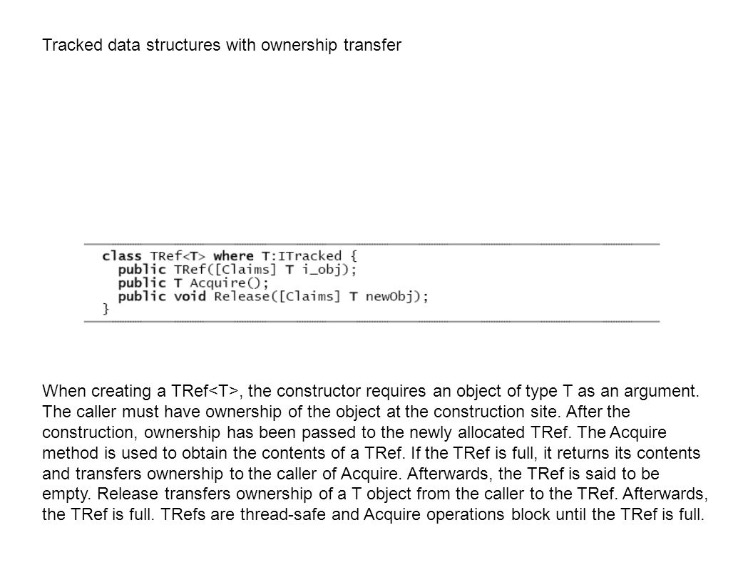 Tracked data structures with ownership transfer